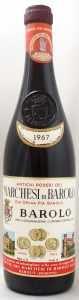 1967 マルケージ ディ バローロ(赤ワイン