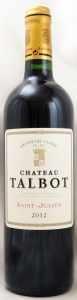 2012 シャトー タルボ(赤ワイン