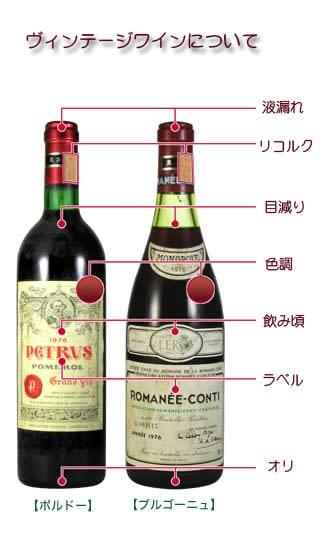 ヴィンテージワインについて
